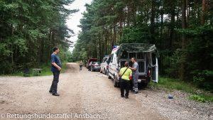 Rettungshundestaffel Ansbach Training Roding